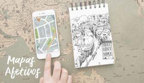 Os mapas afetivos permitem relacionar o ambiente aos sentimentos dos jovens, tentando agrupá-los em categorias de imagens do lugar (Arte: David Mota/UFC)