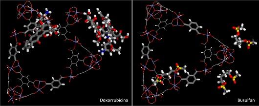 Moléculas em modelagem 3D na tela do computador (Foto: Divulgação/Mardônio Lucena)
