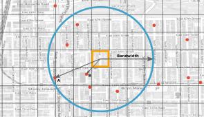 Imagem mostra mapa dividido em células, com pontos vermelhos