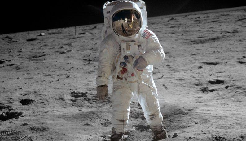 Astronauta Buzz Aldrin na superfície da lua (Foto: NASA)