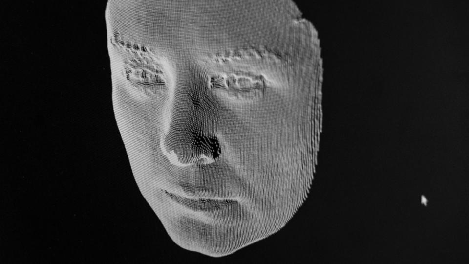 Imagem computadorizada de um rosto