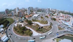 Imagem área da Avenida Aguanambi, em Fortaleza
