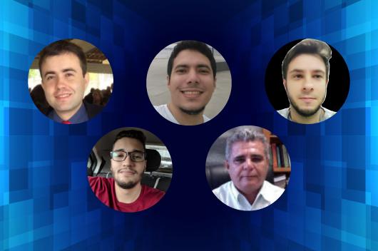 Colagem com as fotos dos cinco integrantes da pesquisa