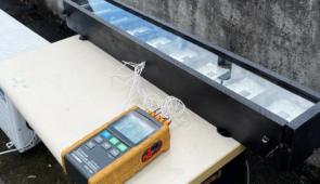 Bancada de teste em operação com as superfícies seletivas