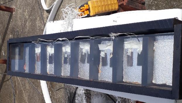 Bancada de teste com as superfícies seletivas em operação